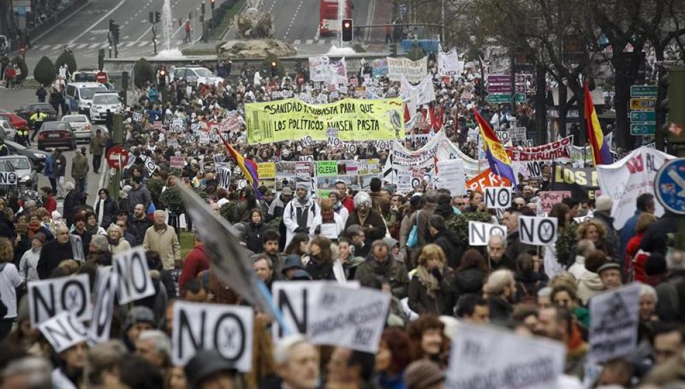 Manifestación por la sanidad pública (archivo)