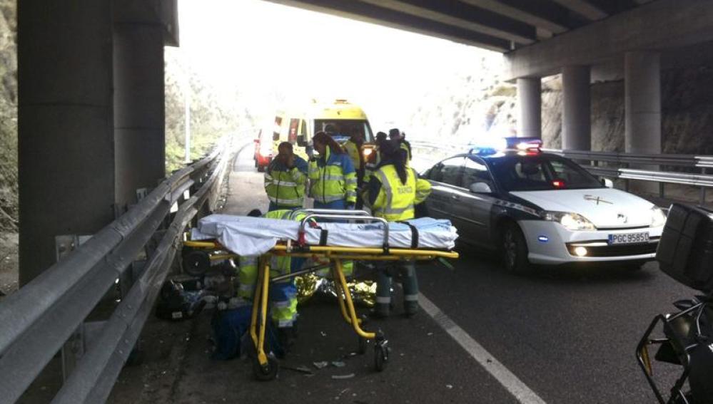 Accidente de una moto a la altura del término municipal de Seseña (Toledo)
