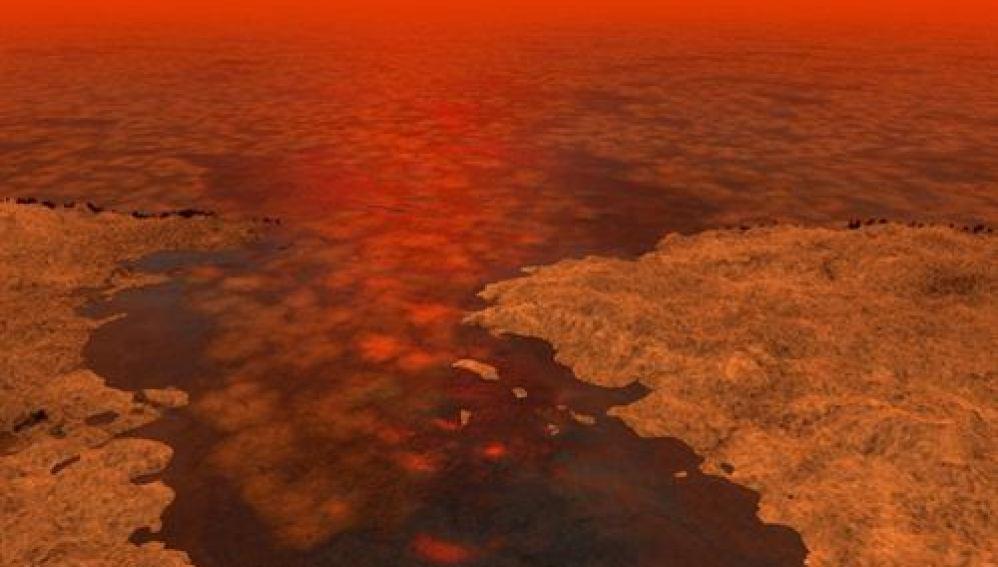 Imagen de los mares de Titán
