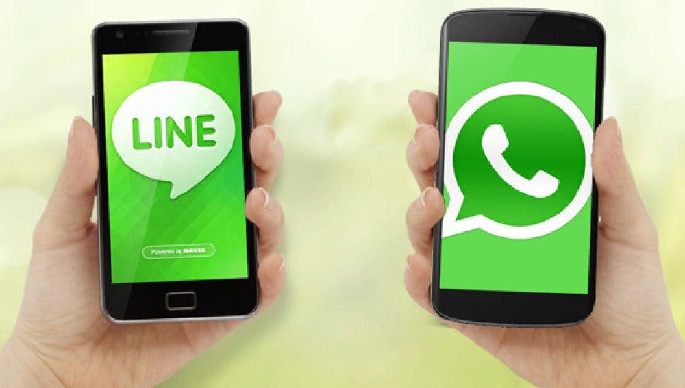 Whatsapp y Line