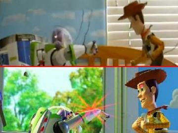 Recreación de 'Toy Story' en la vida real