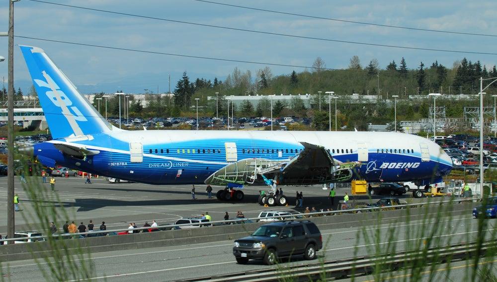 Un avión Boeing 787