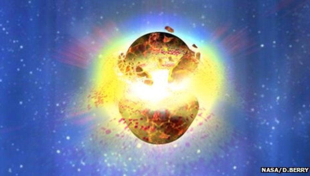 Los estallidos de rayos gamma se producen cuando dos estrellas de neutrones fusionan