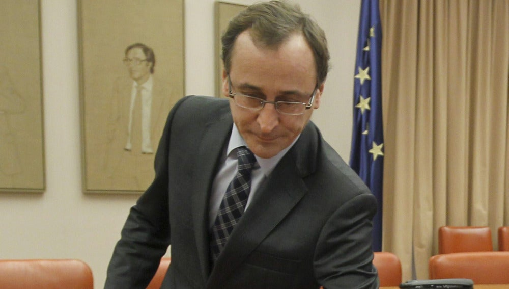El portavoz parlamentario del PP, Alfonso Alonso