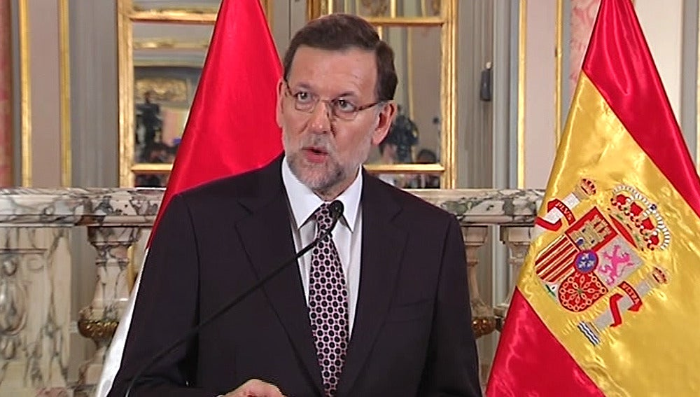 Mariano Rajoy, en la cumbre con el presidente de Perú