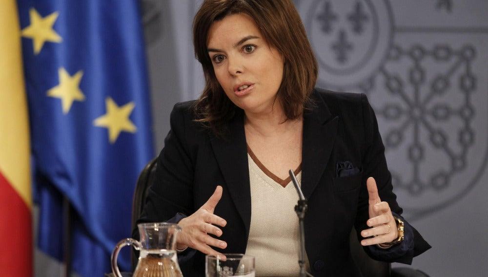 Sáenz de Santamaría en Consejo de Ministros