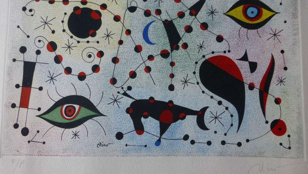Grabado de Joan Miro