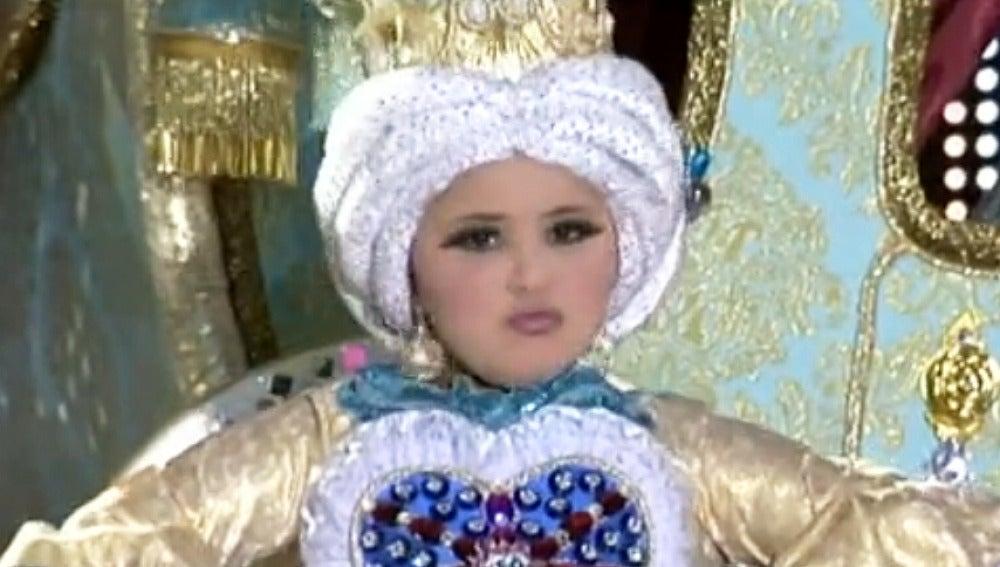 Marta Santana, reina del carnaval infantil