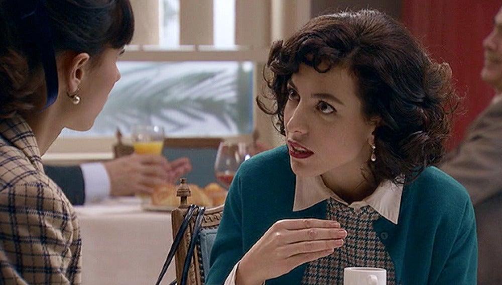 Inés y su amiga Macarena