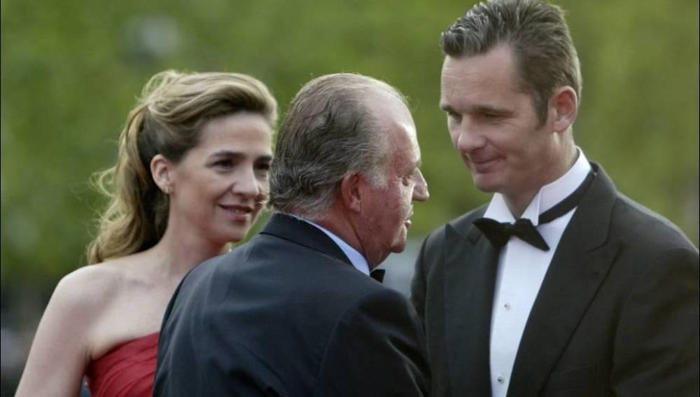 El rey Juan Carlos, la infanta Cristina e Iñaki Urdangarin