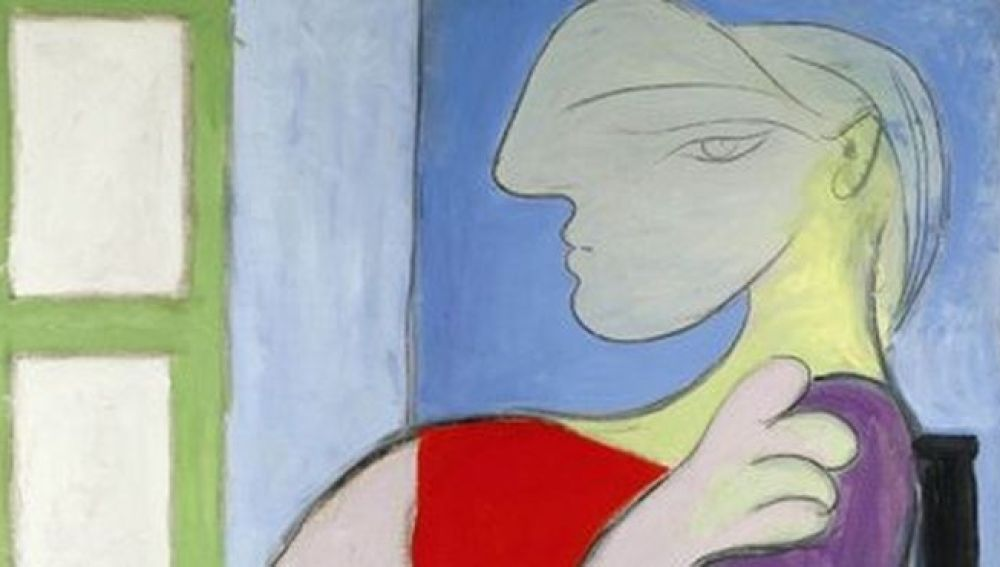 Mujer sentada junto a una ventana, de Picasso