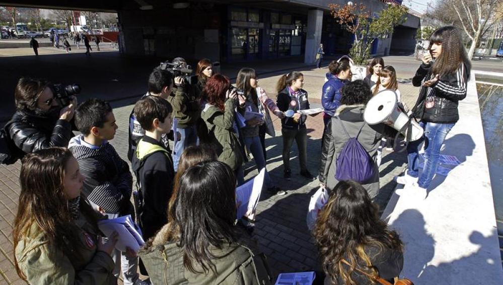 Un piquete del Sindicato de Estudiantes