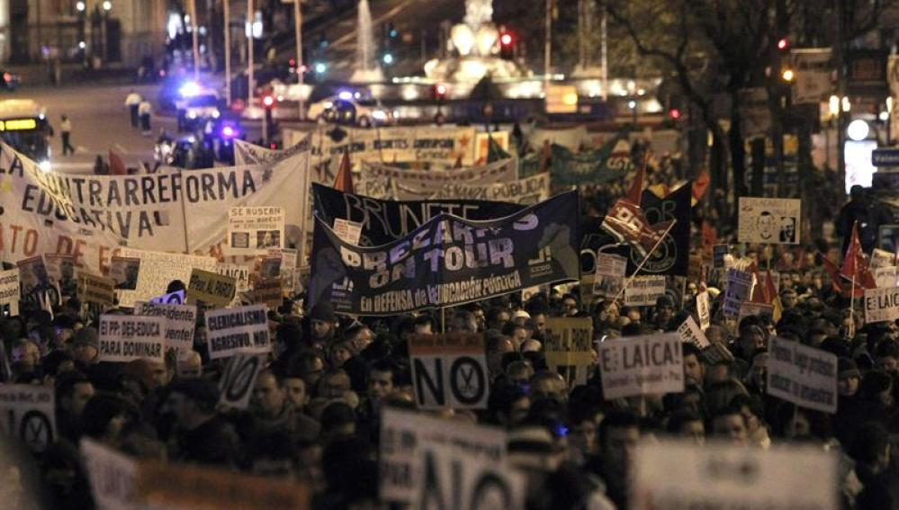 Manifestación contra la Ley Wert en Madrid
