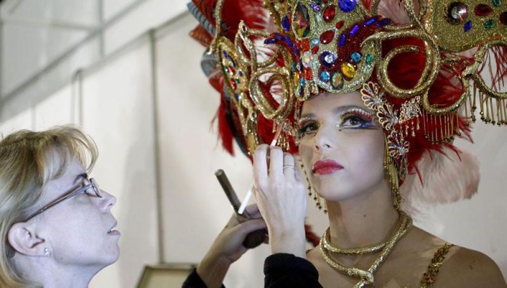 La candidata a reina del Carnaval de Santa Cruz de Tenerife Saida María Prieto, que sufrió quemaduras graves
