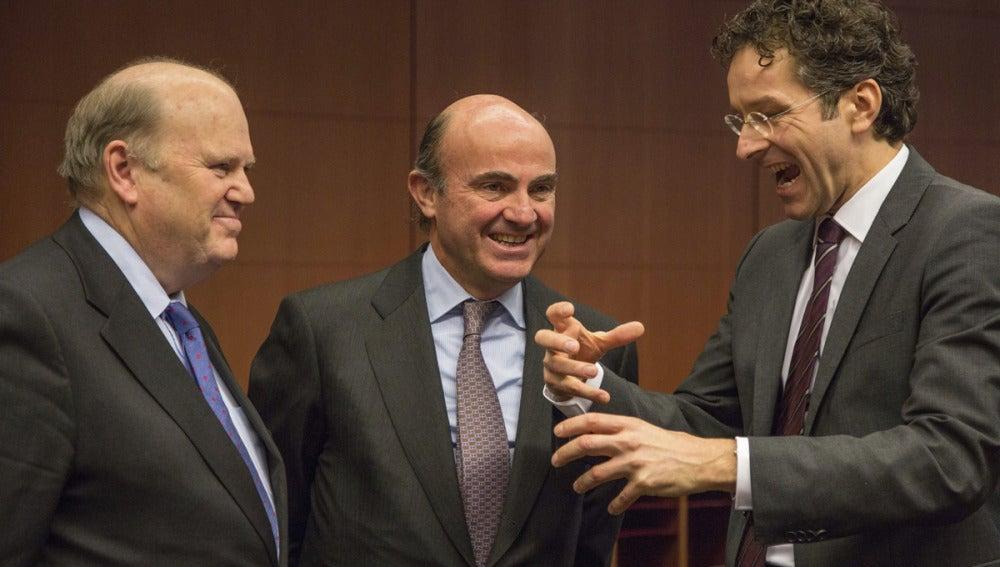 De Guindos a su llegada a la reunión del Eurogrupo