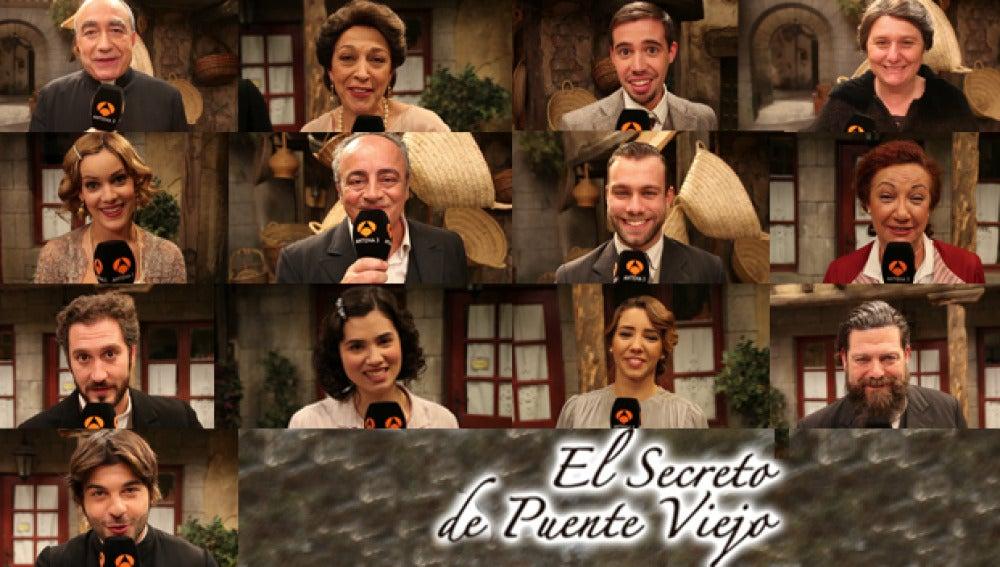 Los actores de El secreto de Puente Viejo dan las gracias a sus espectadores