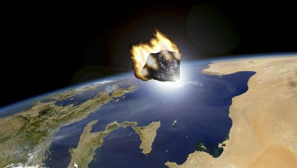 Recreación del paso del asteroide 2012 DA14 facilitada por el Observatorio Astronómico de Mallorca