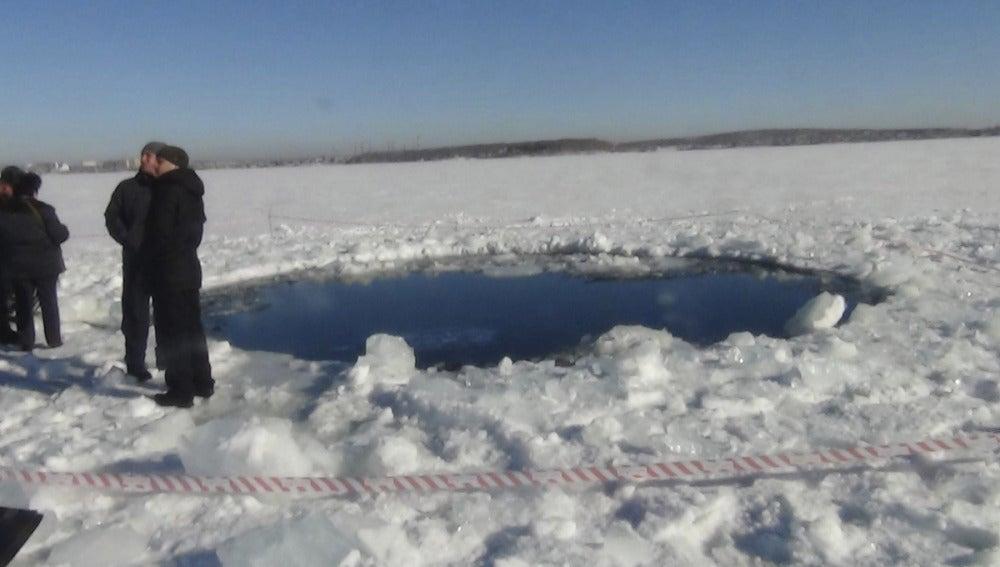 Efecto del meteorito caído en los Urales