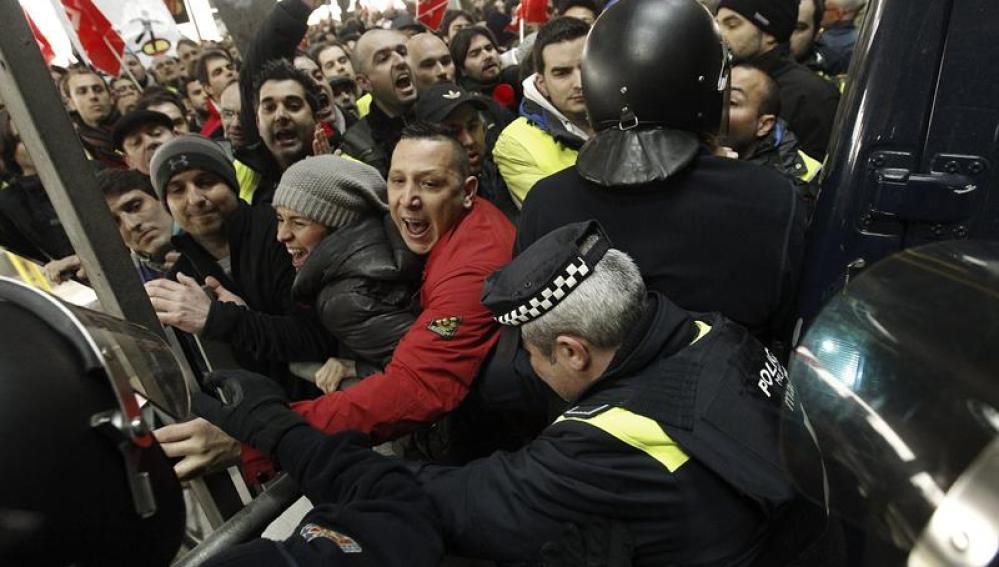 Disturbios en Barajas