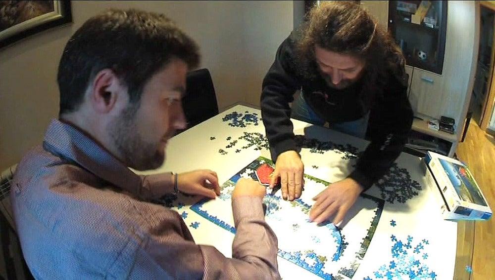 Dos hermanos, campeones de puzzles