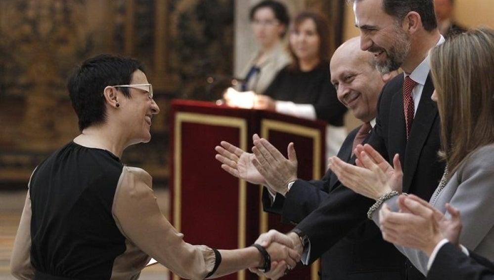 Entrega del premio a la actriz Blanca Portillo.