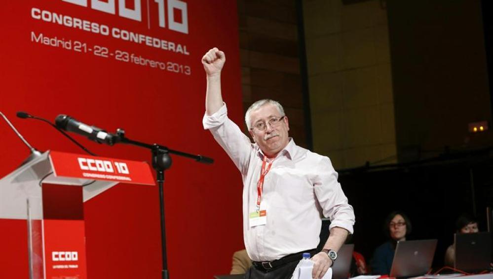 Ignacio Fernández Toxo, reelegido en el X Congreso Confederal de CCOO