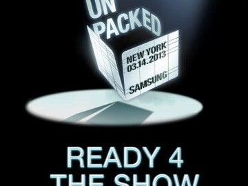 Cartel del Samsung Unpacked