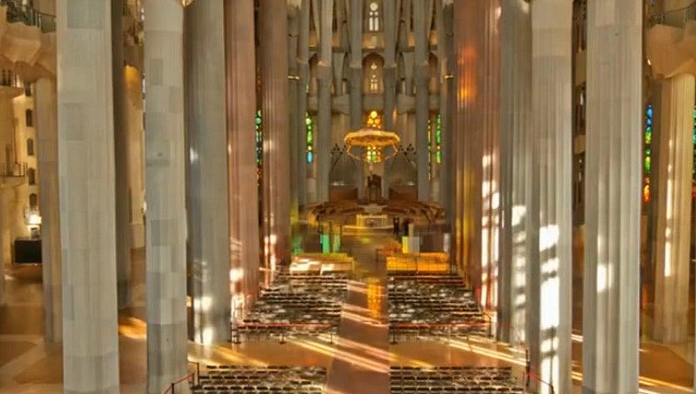 Imágenes inéditas de la Sagrada Familia