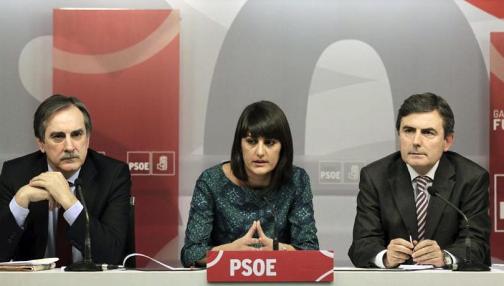 Valeriano Gómez, María González y Pedro Saura