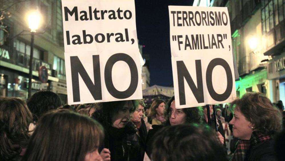Manifestación en Madrid el pasado año con motivo del Día de la Mujer Trabajadora