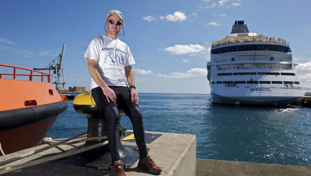 José Tavares, el remero portugués que cruza el Atlántico contra el cambio climático