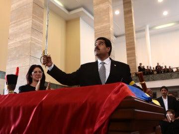 Maduro, en la despedida a Chávez