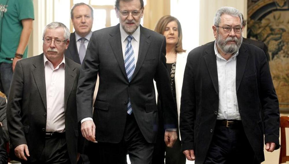 Rajoy con los sindicatos