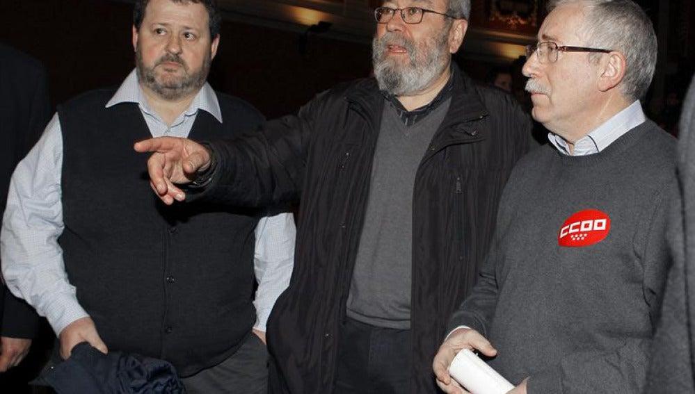 Ignacio Fernández Toxo y Cándido Méndez durante la Jornada de Acción Europea