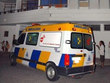 Ambulancia del servicio de urgencias canario.