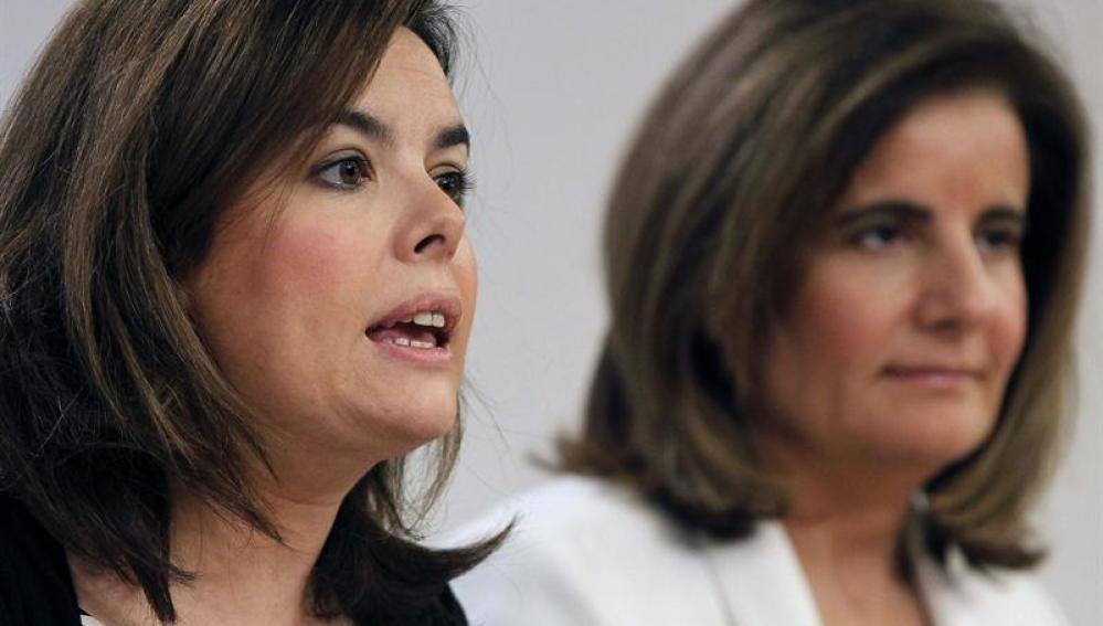 Soraya Sáenz y Fátima Báñez