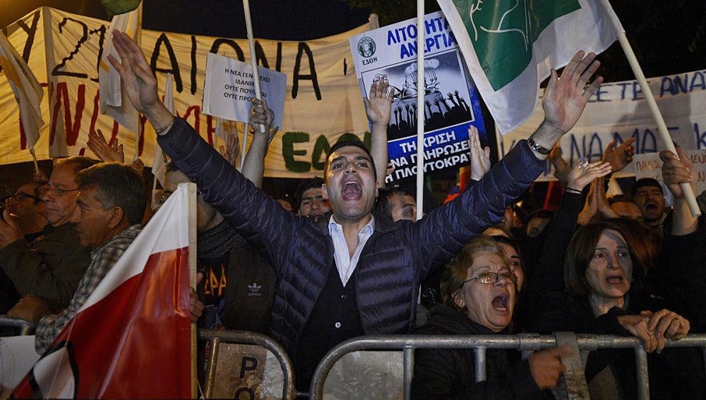 Protestas en Chipre