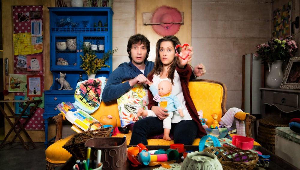 Ángel y Sandra en la segunda temporada de Con el culo al aire