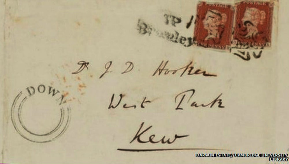 Carta de Darwin para el botánico Joseph Hooker.