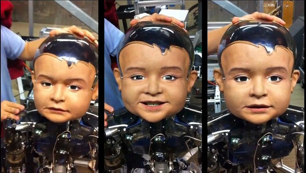 Diego, el niño primer robot que combina neurociencia, visión, psicología y aprendizaje