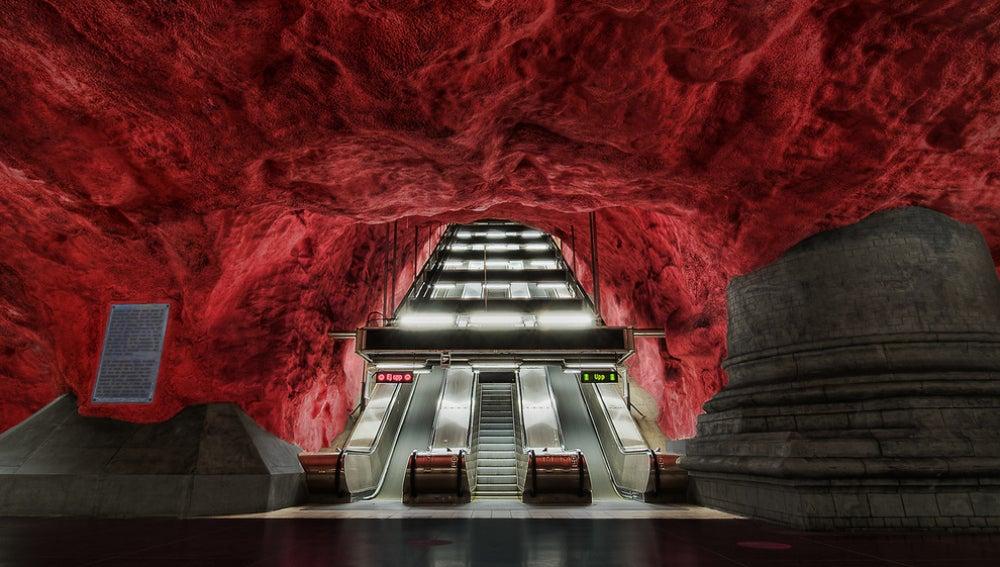 Terminal del metro, Suecia