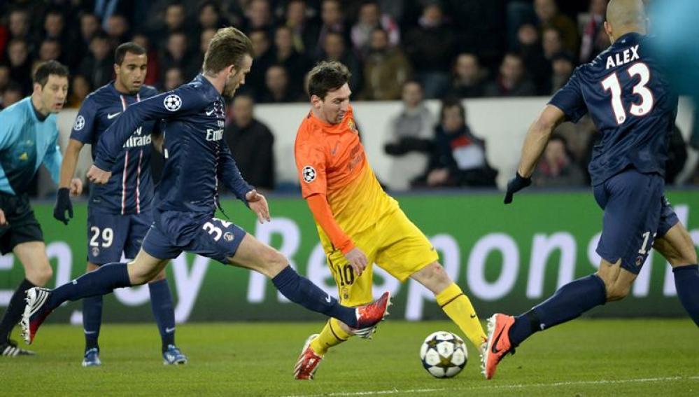 Leo Messi, durante una acción en el partido ante el PSG
