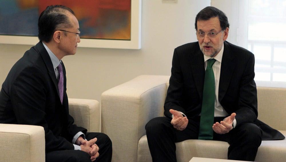 Rajoy recibe al presidente del Banco Mundial