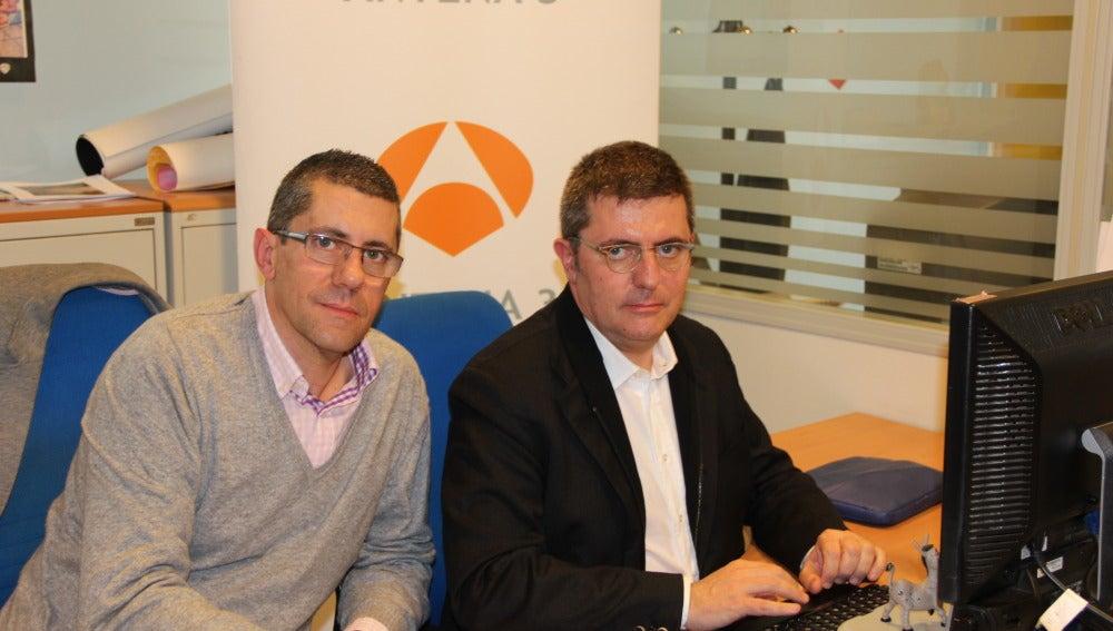 Fernando y Mario Tascón en el encuentro digital de A3