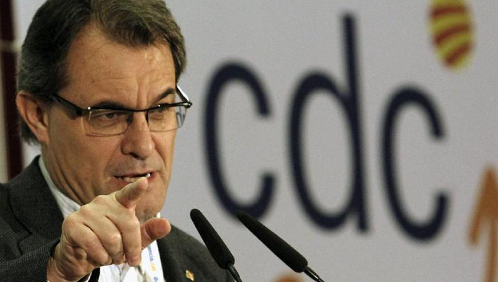 Artur Mas en el Consejo Nacional de CDC
