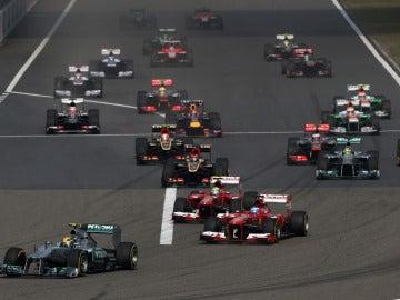 Salida del GP de China