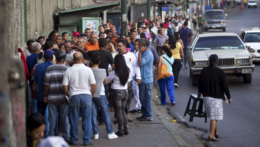 Colas para votar en Venezuela