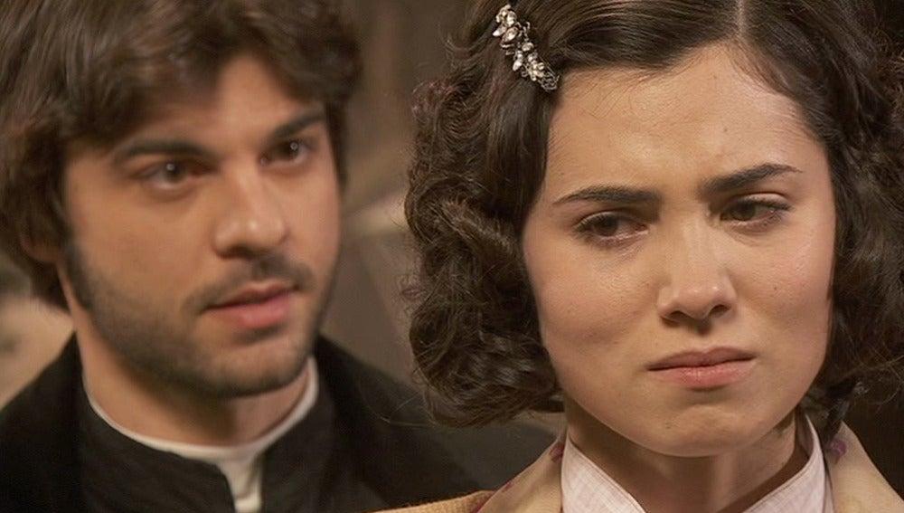 María le confiesa a Gonzalo que fue Fernando quien la violentó
