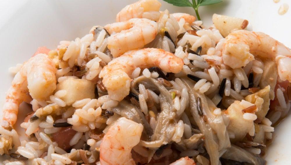 Espárragos con arroz