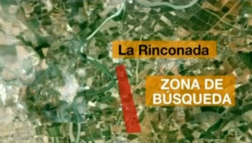 Plano de la zona de La Rinconada